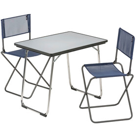 Lafuma Mobilier Table pliante Fidji + 2 chaises pliantes CNO Avec sacoche de transport, carbon/océan
